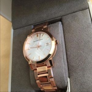 Burberry Accessories - Burberry City BU9004 Rose Gold Stainless Watch